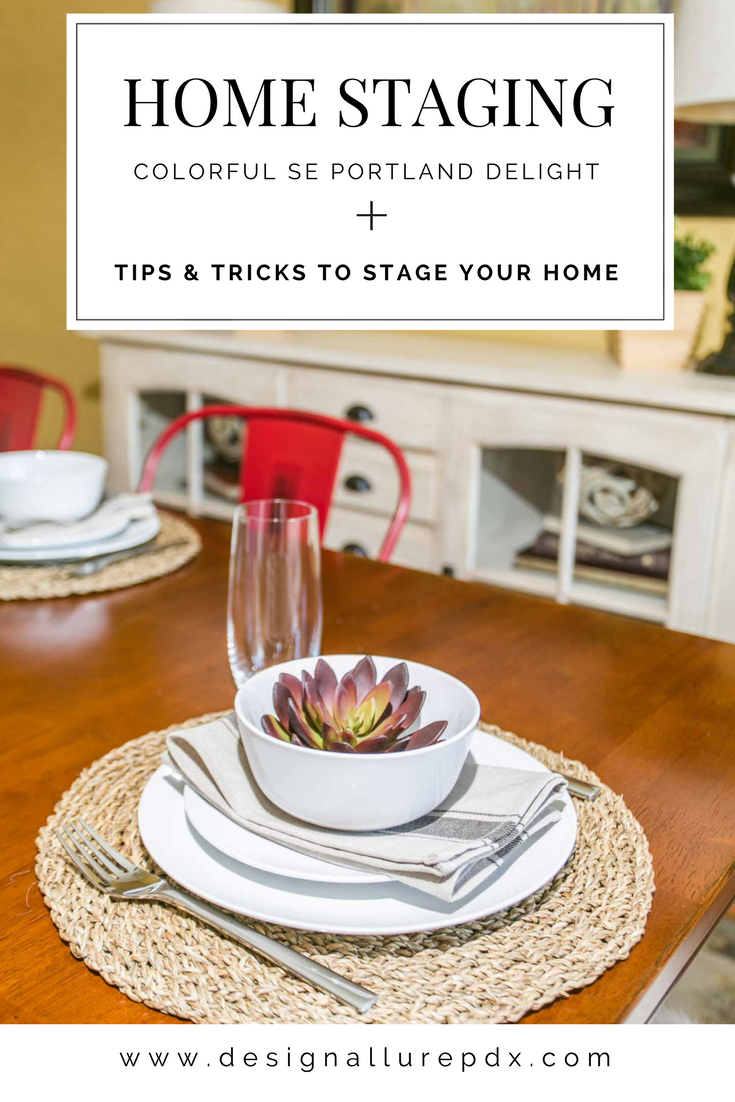 In home staging, every now and then a home comes along with a bright and bold style. What do you do when painting isn't an option? Find out here!