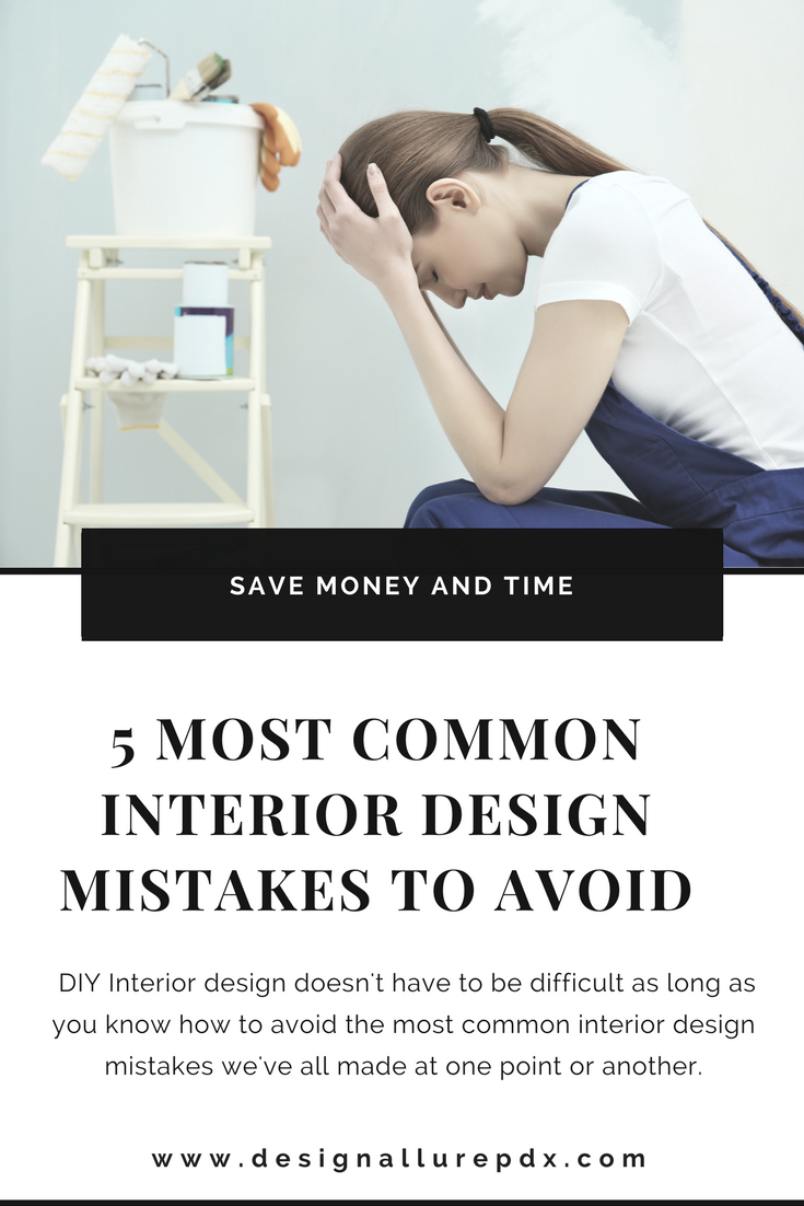Design Allure takes a look at 5 of the most common interior design mistakes and offers tips & tricks on how we can avoid them. Interior design doesn't have to be difficult as long as you know how to avoid the most common interior design mistakes we've all made at one point or another.