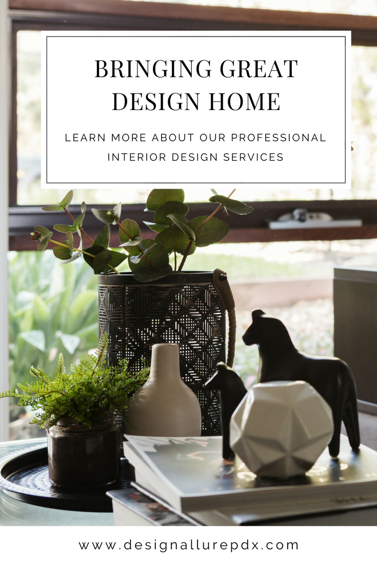 Portland, OR based interior design firm featuring both residential interior design services and commercial interior design services. Our simple three step process allows us to get to know your taste through a comprehensive analysis and a personalized master plan before our final big reveal!